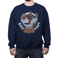 One Big Foot - Crew Neck Sweatshirt - Crew Neck Sweatshirt - RIPT Apparel