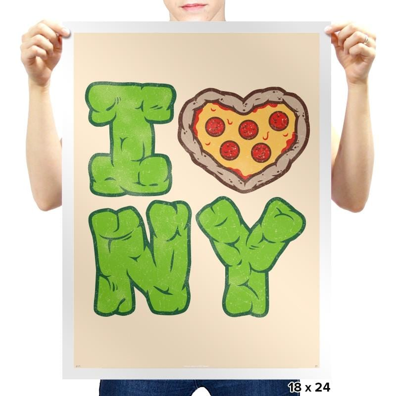 I PIZZA NY - Prints - Posters - RIPT Apparel