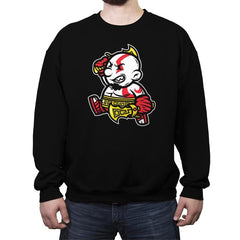Game Spartan Jump - Crew Neck Sweatshirt - Crew Neck Sweatshirt - RIPT Apparel