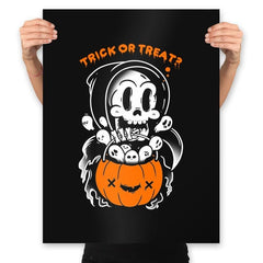 Death's Trick or Treat - Anytime - Prints - Posters - RIPT Apparel