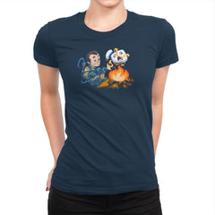 Stay-Burnt, Marshmallow Man Exclusive - Womens Premium - T-Shirts - RIPT Apparel