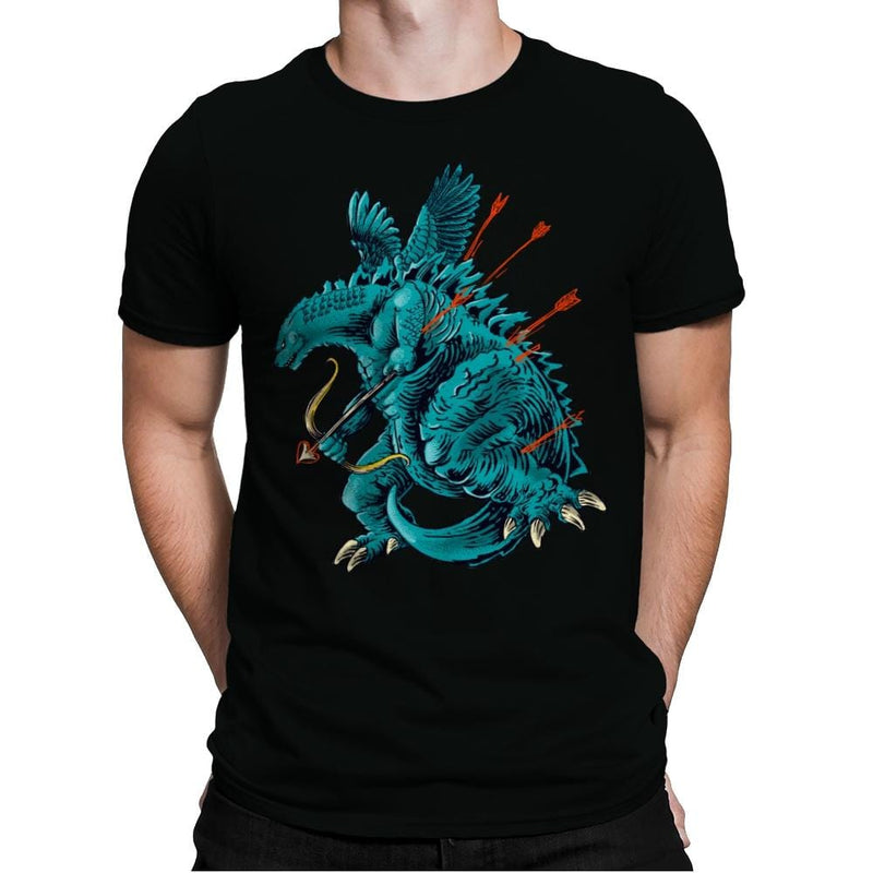 Godzilla Cupid - Mens Premium - T-Shirts - RIPT Apparel