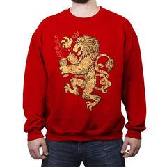 Lion Spoiler Crest - Crew Neck Sweatshirt - Crew Neck Sweatshirt - RIPT Apparel