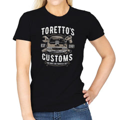 Toretto's Customs Exclusive - Womens - T-Shirts - RIPT Apparel