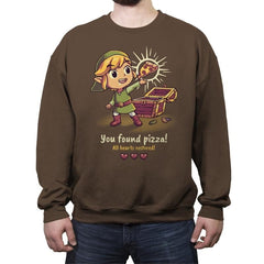The Legendary Pizza - Crew Neck Sweatshirt - Crew Neck Sweatshirt - RIPT Apparel