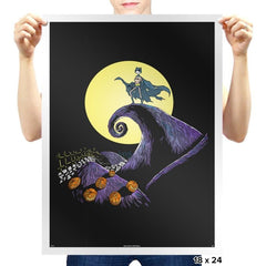 Bat Skellington  - Prints - Posters - RIPT Apparel