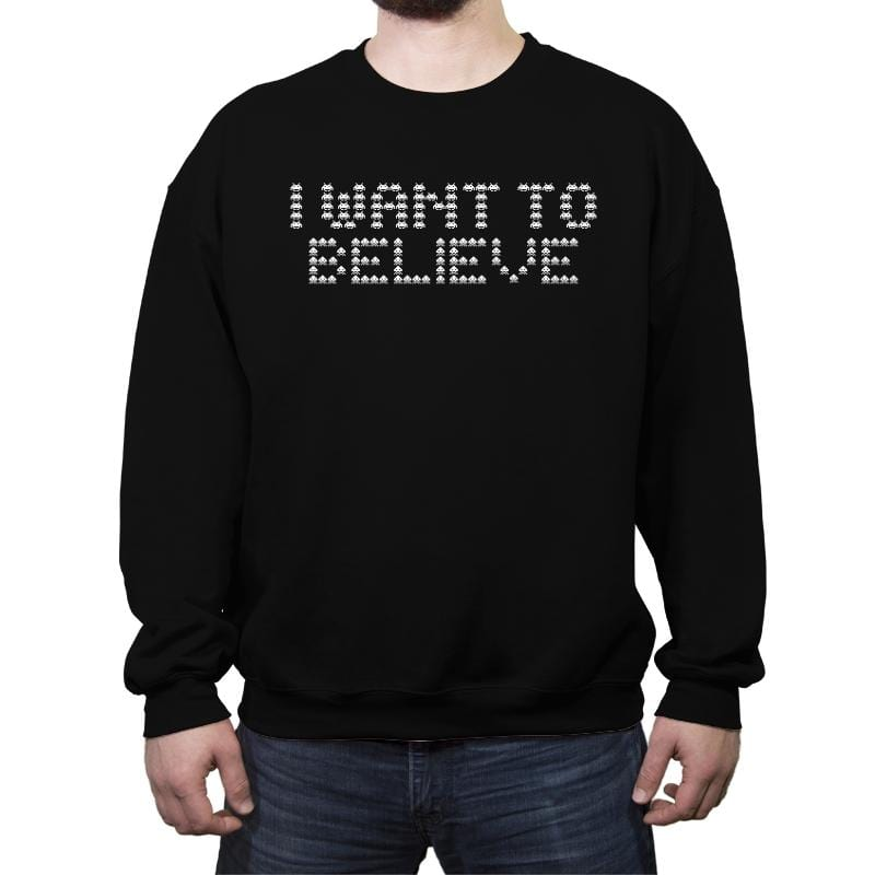 Space Believers - Crew Neck Sweatshirt - Crew Neck Sweatshirt - RIPT Apparel