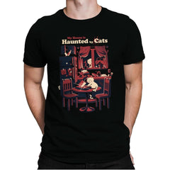 Haunted by Cats - Mens Premium - T-Shirts - RIPT Apparel