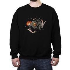 Tie-Rex and the Rebeldactyls - Crew Neck Sweatshirt - Crew Neck Sweatshirt - RIPT Apparel