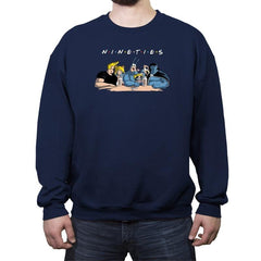 Nineties Friends - Crew Neck Sweatshirt - Crew Neck Sweatshirt - RIPT Apparel