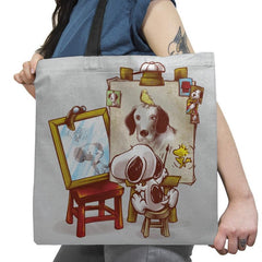 Triple Beagle Portrait - Art Attack - Tote Bag - Tote Bag - RIPT Apparel