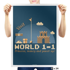 WORLD 1-1 - Prints - Posters - RIPT Apparel