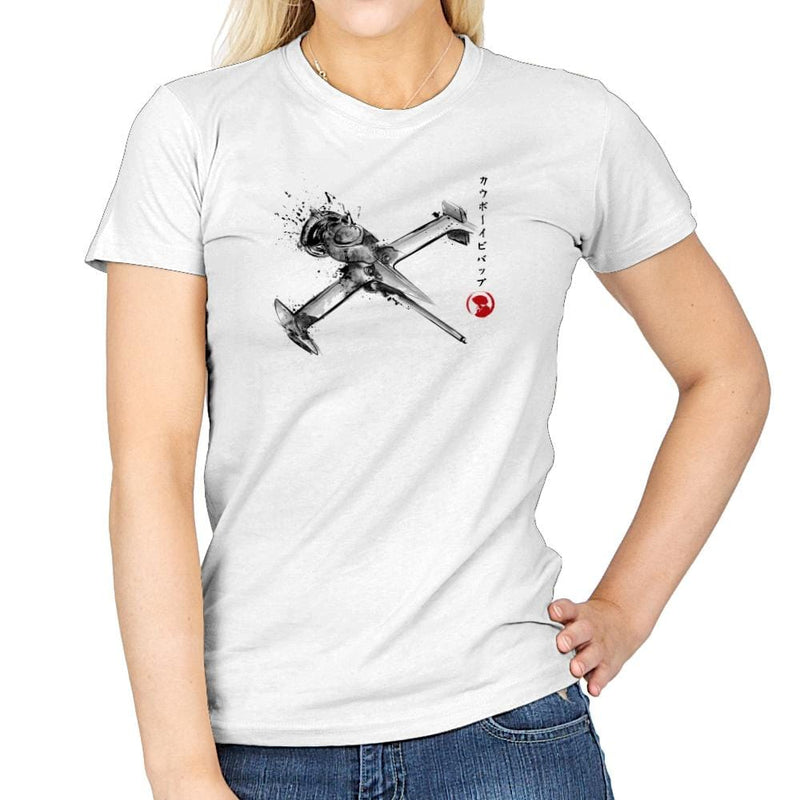 Mono Racer Sumi-E - Sumi Ink Wars - Womens - T-Shirts - RIPT Apparel