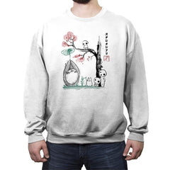 Growing Trees Sumi-e - Crew Neck Sweatshirt - Crew Neck Sweatshirt - RIPT Apparel