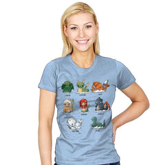Sea Monsters - Womens - T-Shirts - RIPT Apparel