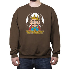 Mo' Mushrooms Mo' Problems - Crew Neck Sweatshirt - Crew Neck Sweatshirt - RIPT Apparel