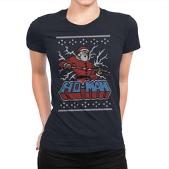 Ho-Man! - Ugly Holiday - Womens Premium - T-Shirts - RIPT Apparel