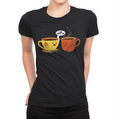 I Love Coffee Too - Womens Premium - T-Shirts - RIPT Apparel