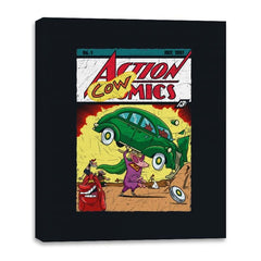 Action Cowmics - Canvas Wraps - Canvas Wraps - RIPT Apparel