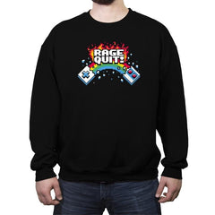 Rage Quit! - Crew Neck Sweatshirt - Crew Neck Sweatshirt - RIPT Apparel