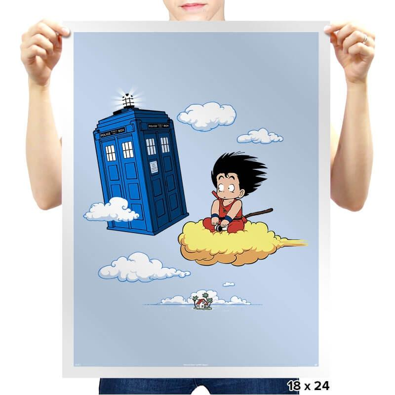 The Cloud and the Phone Box - Prints - Posters - RIPT Apparel