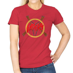 Groovy Demon Slayer - Womens - T-Shirts - RIPT Apparel