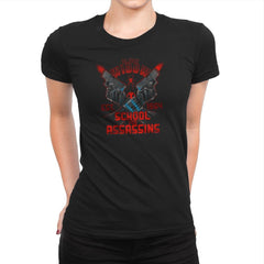 Nat's School for Assassins Exclusive - Womens Premium - T-Shirts - RIPT Apparel