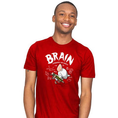 Brain Conquers The World! - Mens - T-Shirts - RIPT Apparel