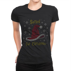 Christmas Sorting Hat - Ugly Holiday - Womens Premium - T-Shirts - RIPT Apparel
