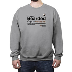 Fancy Bearded Hipster - Crew Neck Sweatshirt - Crew Neck Sweatshirt - RIPT Apparel