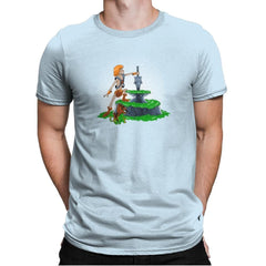 Power Sword and the Stone Exclusive - Mens Premium - T-Shirts - RIPT Apparel