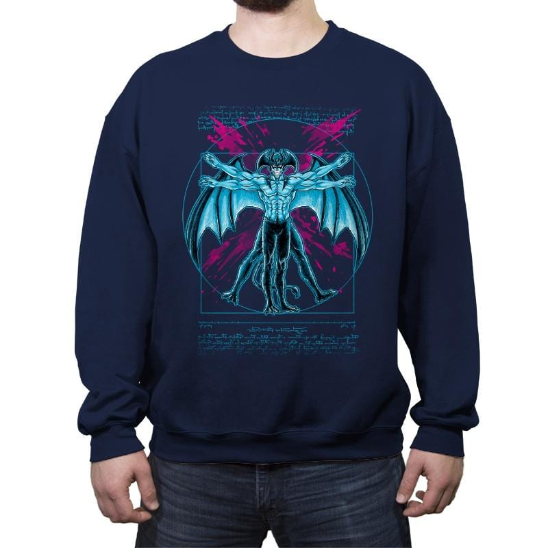 Vitruvian Devil - Crew Neck Sweatshirt - Crew Neck Sweatshirt - RIPT Apparel