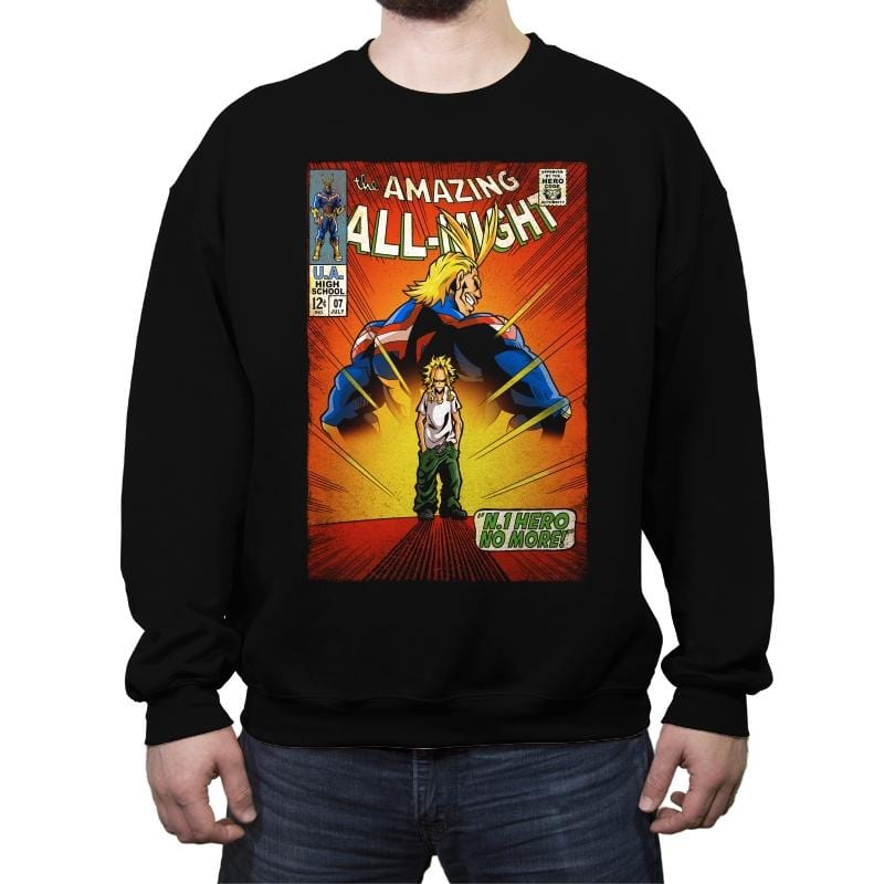 The Amazing All Might - Crew Neck Sweatshirt - Crew Neck Sweatshirt - RIPT Apparel