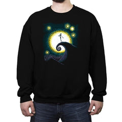 Starry Nightmare - Crew Neck Sweatshirt - Crew Neck Sweatshirt - RIPT Apparel