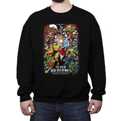 Super HB Heroes - Crew Neck Sweatshirt - Crew Neck Sweatshirt - RIPT Apparel