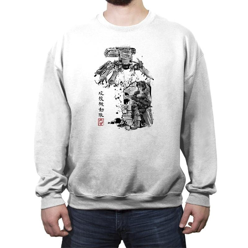 Major vs Tank sumi-e - Crew Neck Sweatshirt - Crew Neck Sweatshirt - RIPT Apparel