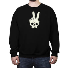 Skull Hand - Crew Neck Sweatshirt - Crew Neck Sweatshirt - RIPT Apparel