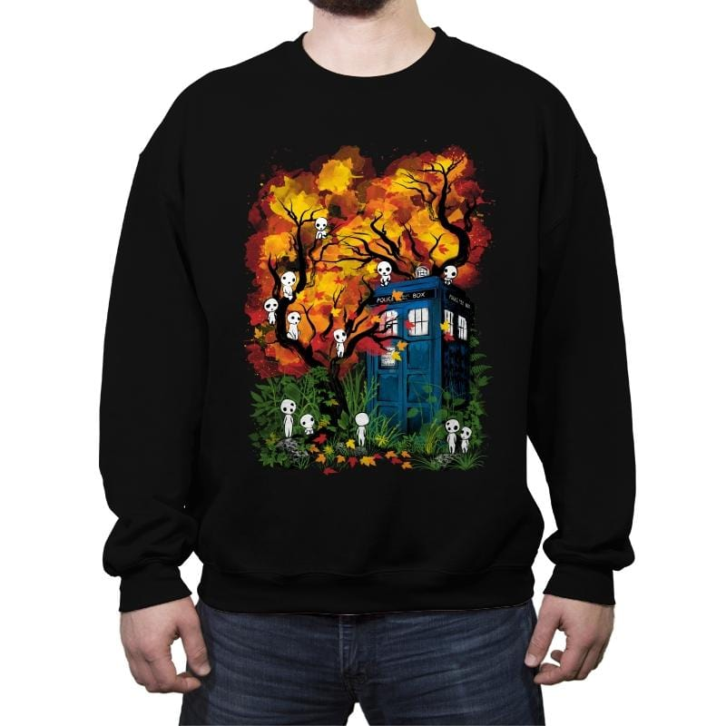 The Doctor in the Forest - Crew Neck Sweatshirt - Crew Neck Sweatshirt - RIPT Apparel