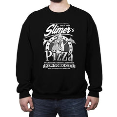 Slimer's Pizza - Crew Neck Sweatshirt - Crew Neck Sweatshirt - RIPT Apparel