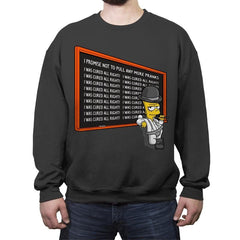A Chalkboard Orange - Crew Neck Sweatshirt - Crew Neck Sweatshirt - RIPT Apparel