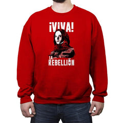 Viva La Rebellion - Crew Neck Sweatshirt - Crew Neck Sweatshirt - RIPT Apparel