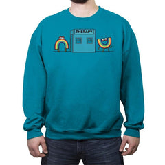 Rainbow Therapy - Crew Neck Sweatshirt - Crew Neck Sweatshirt - RIPT Apparel