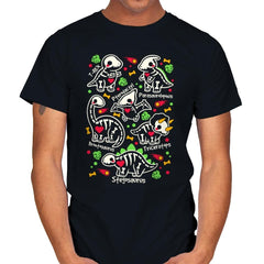 Dinosaurs skeletons - Mens - T-Shirts - RIPT Apparel