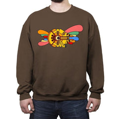 Yellow Hunk of Junk - Crew Neck Sweatshirt - Crew Neck Sweatshirt - RIPT Apparel