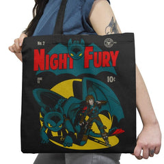 Dark Knight Fury Exclusive - Tote Bag - Tote Bag - RIPT Apparel