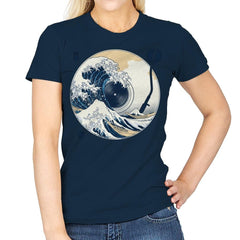 The Great Wave off Music - Womens - T-Shirts - RIPT Apparel