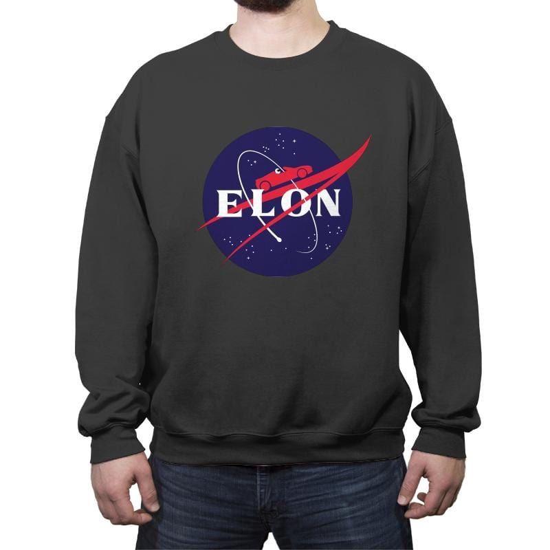 Roadsters in Space! - Crew Neck Sweatshirt - Crew Neck Sweatshirt - RIPT Apparel