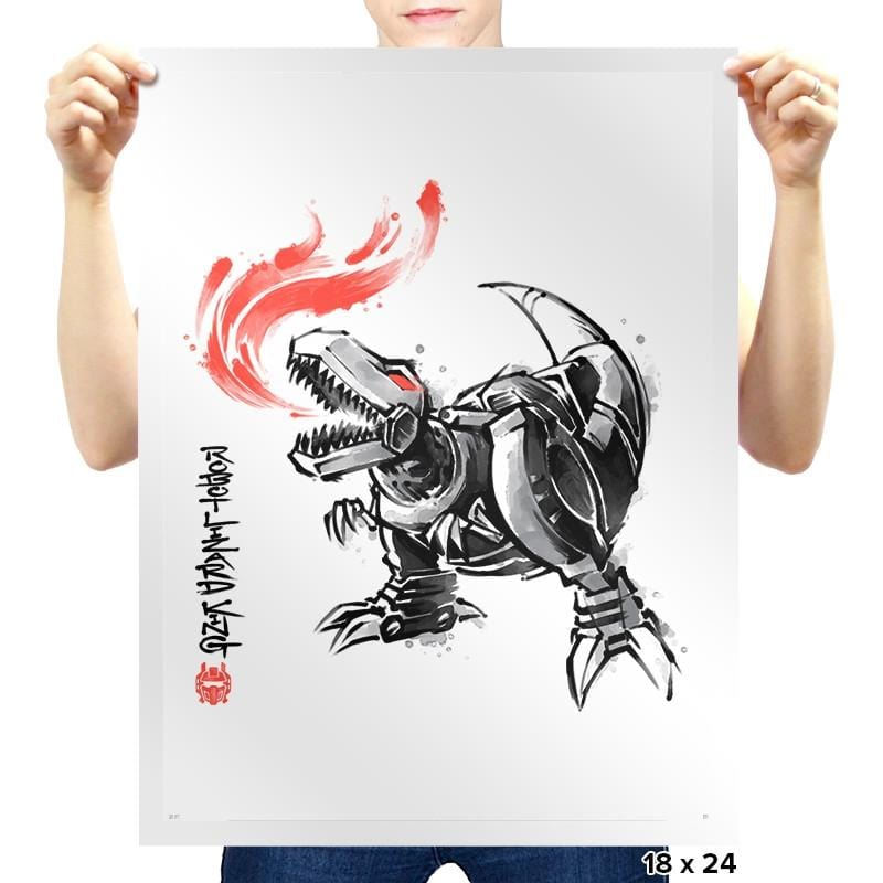 Robot Lizard King Exclusive - Prints - Posters - RIPT Apparel