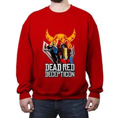 Dead Red Deception - Crew Neck Sweatshirt - Crew Neck Sweatshirt - RIPT Apparel