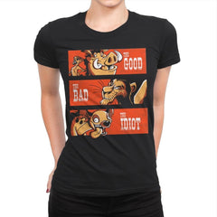 The Good The Bad And The Idiot - Womens Premium - T-Shirts - RIPT Apparel